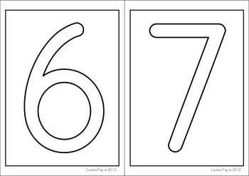 Playdough Mats - Numbers (0-30)