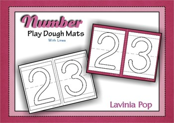 Playdough Mats - Numbers (0-30) with Lines