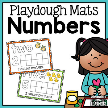 Number Playdough Mats 1-10