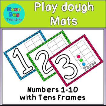 Play dough Mats - Numbers 1-10 With Tens Frames