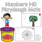 Playdough Mats! Numbers 1-10 with picture clue directions.