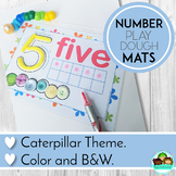 Playdough Mats Numbers 1 - 20, With Ten Frames and Caterpi