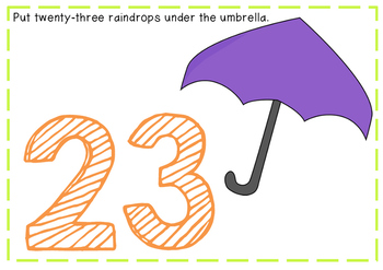 Playdough Mats Numbers 20-28