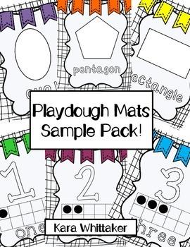 Playdough Mats Sample Pack