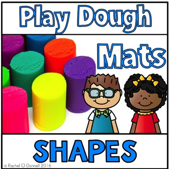 Playdough Mats Shapes Freebie
