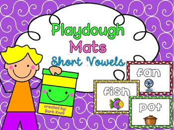 Playdough Mats Short Vowels