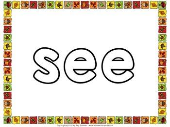 Sight Words - Playdough Mats for Fall