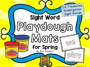 Sight Words - Playdough Mats for Spring
