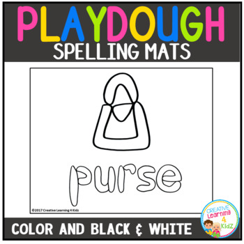 Playdough Mats Spelling Set