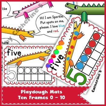 Ten Frame Playdough Mats