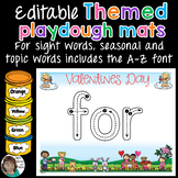 Playdough Mats Themed Word Activity - EDITABLE