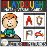 Playdough Mats & Visual Cards: Alphabet A Picture Set Freebie