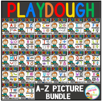 Playdough Mats & Visual Cards: Alphabet Pictures Bundle