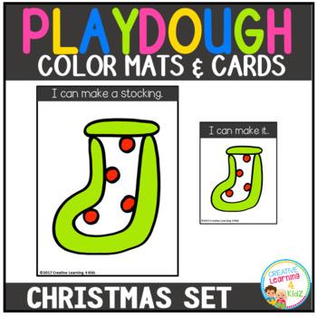 Playdough Mats & Visual Cards: Christmas Set