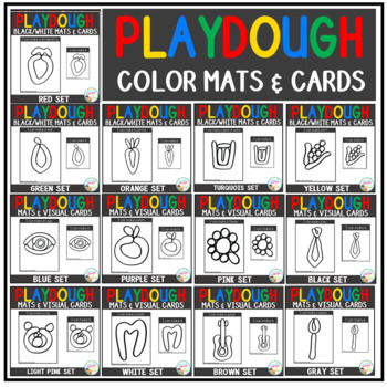 Playdough Mats & Visual Cards: Color Bundle