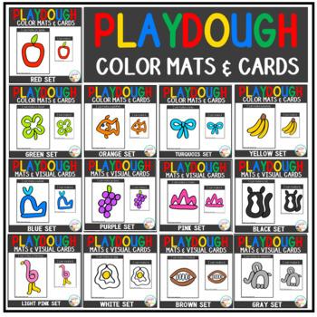 Playdough Mats & Visual Cards: Color Bundle