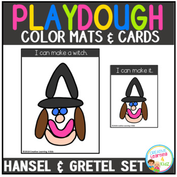 Playdough Mats & Visual Cards: Fairy Tale - Hansel and Gretel