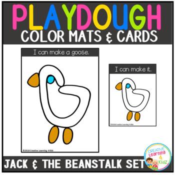 Playdough Mats & Visual Cards: Fairy Tale - Jack and The Beanstalk