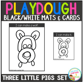 Playdough Mats & Visual Cards: Fairy Tale - The Three Little Pigs