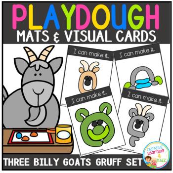 Playdough Mats & Visual Cards: Fairy Tale - Three Billy Goats Gruff
