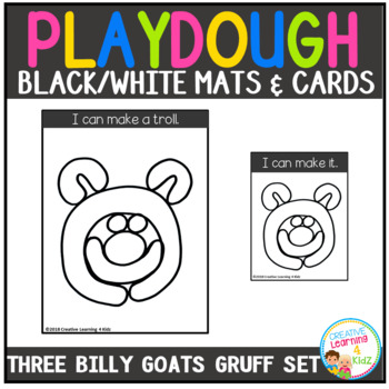 Playdough Mats & Visual Cards: Fairy Tale - Three Billy Goats Gruff