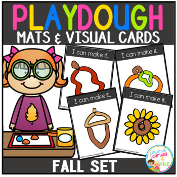 Playdough Mats & Visual Cards: Fall Set