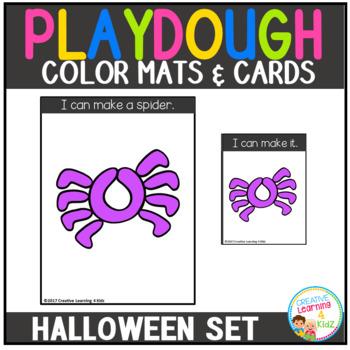Playdough Mats & Visual Cards: Halloween Set