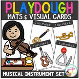 Playdough Mats & Visual Cards: Musical Instrument Set