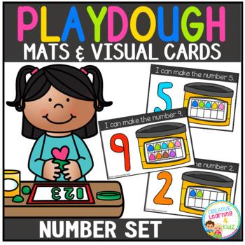 Playdough Mats & Visual Cards: Number Set