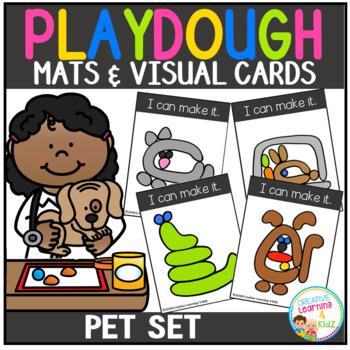 Playdough Mats & Visual Cards: Pet Set