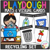 Playdough Mats & Visual Cards: Recycling Earth Day Set