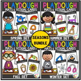 Playdough Mats & Visual Cards: Seasons Bundle