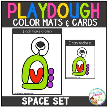Playdough Mats & Visual Cards: Space Set
