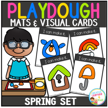 Playdough Mats & Visual Cards: Spring Set