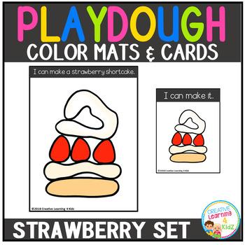 Playdough Mats & Visual Cards: Strawberry Time