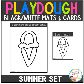Playdough Mats & Visual Cards: Summer Set