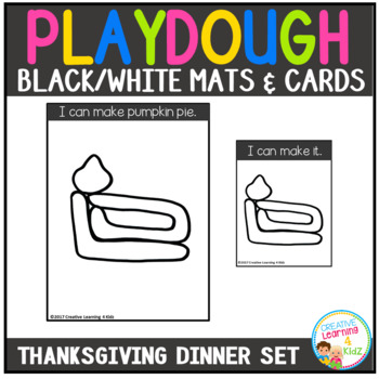 Playdough Mats & Visual Cards: Thanksgiving Dinner Set