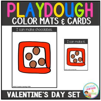 Playdough Mats & Visual Cards: Valentine's Day Set