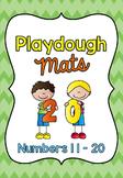 Playdough Mats / Number Words and Ten Frames 11-20 SET