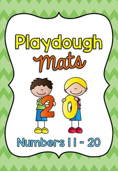 Playdough Mats / Number Words and Ten Frames 11-20 SET