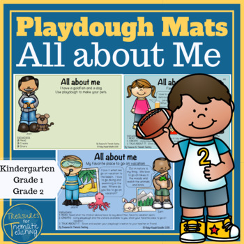All About Me Playdough Mats and Cards