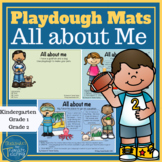 All About Me Playdough Mats and Playdough Task Cards
