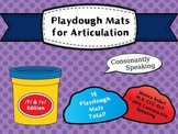 Playdough Mats for Articulation: F & V Edition