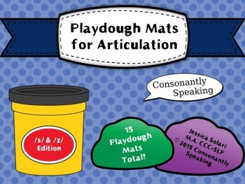 Playdough Mats for Articulation: S & Z Edition