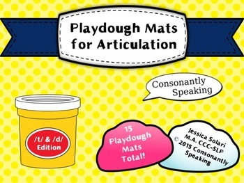 Playdough Mats for Articulation: T & D Edition