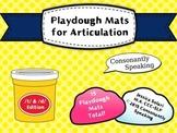Playdough Mats for Articulation: T & D Edition