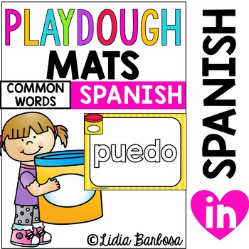Playdough Mats for High Frequency Words in Spanish