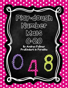 Playdough Mats for Numbers 0-20