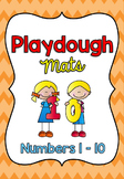 Playdough Mats / Number Words and Ten Frames 1-10 *FREEBIE*