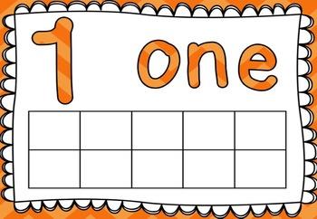 Playdough Mats / Number Words and Ten Frames 1-10 *FREEBIE*